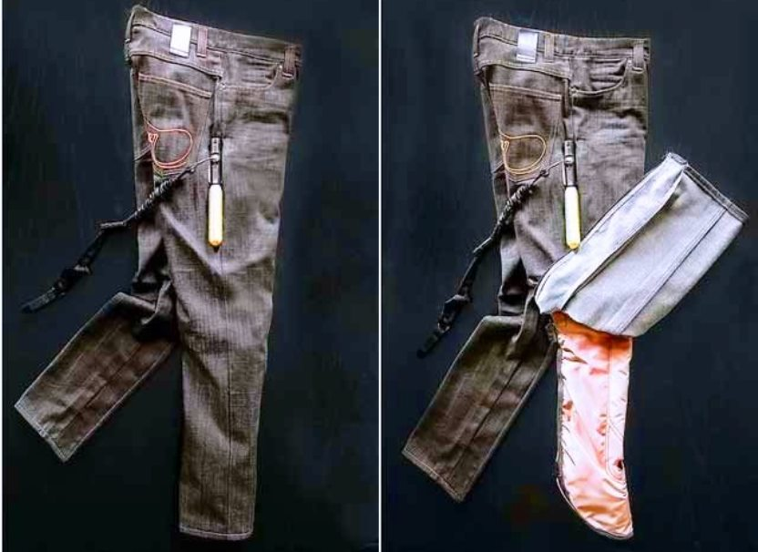 Swedish airbag jeans to save motorcyclists from accidents
