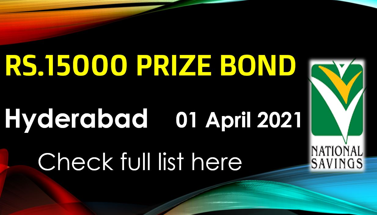 Rs. 15000 Prize bond list 01 April 2021 Draw #86 Hyderabad Result Check online