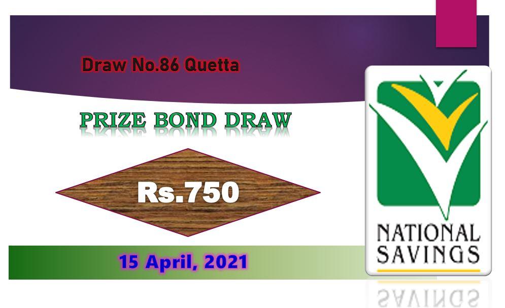 Rs. 15000 Prize bond list 01 April 2021 Draw #86