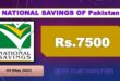 National Savings Rs. 7500 Prize bond full #86 draw Monday list May 2021 Rawalpindi