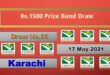 Rs. 1500 Prize bond list 17 May 2021 Draw #86