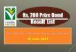 National Savings Rs. 200 Prize bond full #86 draw Tuesday list June 2021 Peshawar