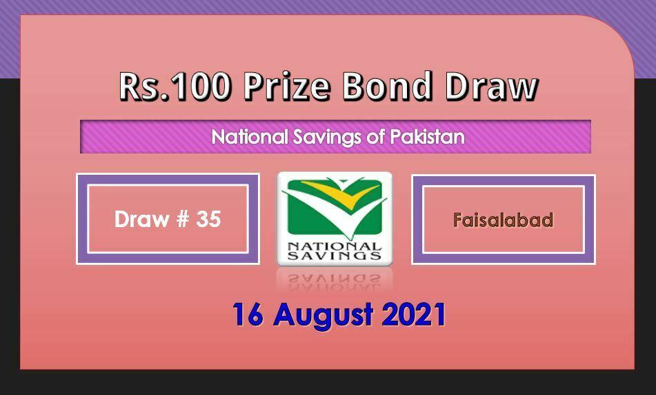 Rs. 100 Prize bond list 16 August 2021