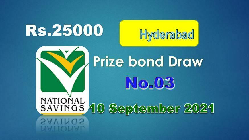 Rs. 25000 Premium Prize bond list 10 September 2021